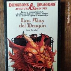 Libros de segunda mano: DUNGEONS & DRAGONS, AVENTURA SIN FIN Nº 8- LAS ALAS DEL DRAGON - LIBRO JUEGO DRAGONES Y MAZMORRAS. Lote 179176253