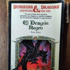 Libros de segunda mano: DUNGEONS & DRAGONS, AVENTURA SIN FIN Nº 7- EL DRAGON NEGRO- LIBRO JUEGO DRAGONES Y MAZMORRAS. Lote 179176330