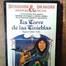 Libros de segunda mano: DUNGEONS & DRAGONS, AVENTURA SIN FIN Nº 12- LA TORRE DE LAS TINIEB- LIBRO JUEGO DRAGONES Y MAZMORRAS. Lote 179176397