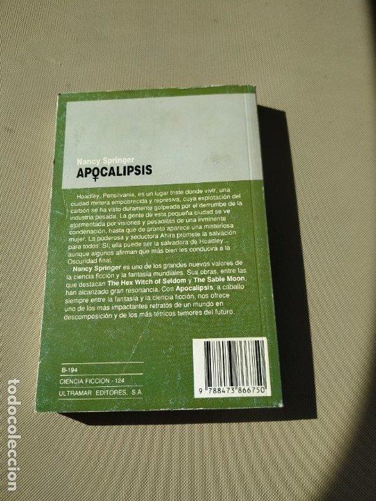 Libros de segunda mano: Apocalipsis - Nancy Springer. Ultramar - Foto 2 - 179374647