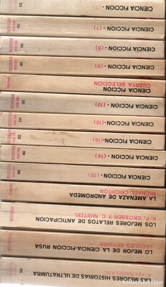 18 NOVELAS BRUGUERA CIENCIA FICCIÓN (Libros de Segunda Mano (posteriores a 1936) - Literatura - Narrativa - Ciencia Ficción y Fantasía)