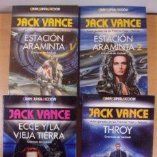 Libros de segunda mano: CRÓNICAS DE CADWAL / ESTACIÓN ARAMINTA 1 Y 2 - ECCE Y LA VIEJA TIERRA - THROY / JACK VANCE. Lote 180844458