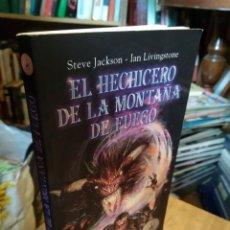 Libros de segunda mano: EL HECHICERO DE LA MONTAÑA DE FUEGO. STEVE JACKSON. IAN LIVIBGSTONE. Lote 180873913