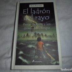 Libros de segunda mano: EL LADRON DEL RAYO.PERCY JACKSON Y LOS DIOSES DEL OLIMPO.LIBRO PRIMERO.EDICIONES SALAMANDRA 2006.-1ª. Lote 180897231