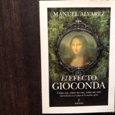 Libros de segunda mano: EL EFECTO GIOCONDA. M. ÁLVAREZ. COMO NUEVO. Lote 180906317