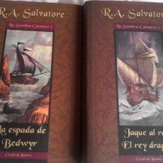 Livres d'occasion: R. A. SALVATORE: LA SOMBRA CARMESÍ: TRILOGÍA COMPLETA EN DOS VOLÚMENES.. Lote 181153268