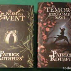 Libros de segunda mano: EL NOM DEL VENT & EL TEMOR D´UN HOME [PATRICK ROTHFUSS] (LLIBRES NOUS). Lote 181214725