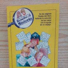 Libros de segunda mano: RESUELVE EL MISTERIO - EL ENIGMA DE LAS AUTOPISTAS - TIMUN MAS. Lote 181414116