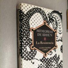 Libros de segunda mano: MEMORIAS DE IDHÚN: LA RESISTENCIA / LAURA GALLEGO GARCÍA / CÍRCULO DE LECTORES. Lote 182268115