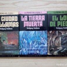 Libros de segunda mano: LA PIEDRA DEL PODER - TRILOGIA COMPLETA - 1990 - TIMUN MAS. Lote 182500327