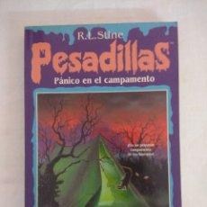Libros de segunda mano: LIBRO PESADILLAS Nº10/PANICO EN EL CAMPAMENTO/R.L.STINE-EDICIONES B.. Lote 182669161