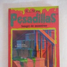 Libros de segunda mano: LIBRO PESADILLAS Nº7/SANGRE DE MONSTRUO/R.L.STINE-EDICIONES B.. Lote 182669302