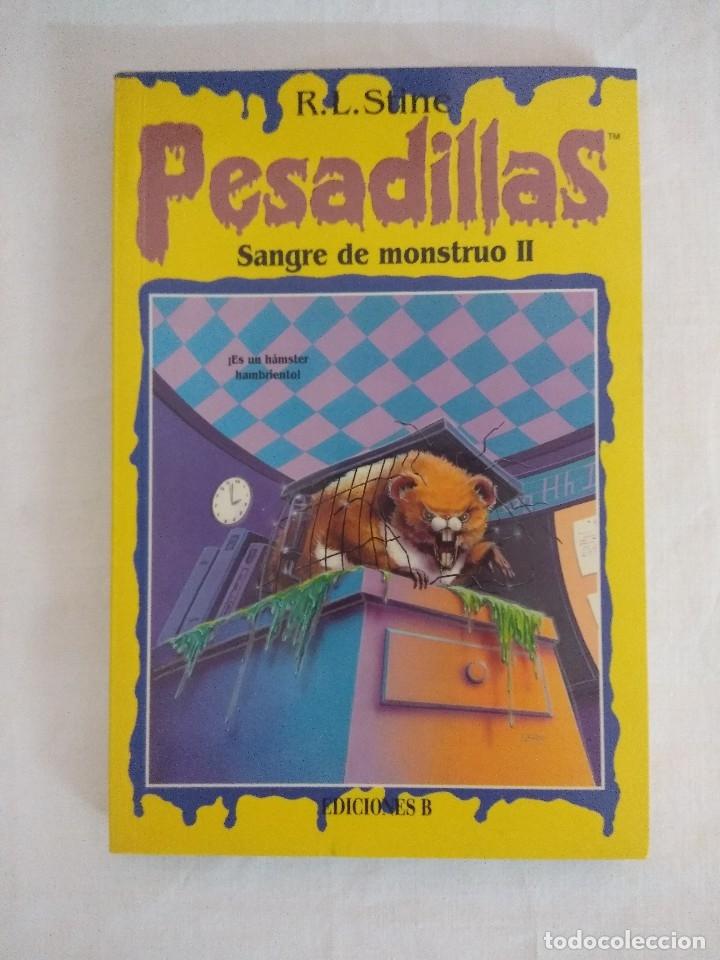 LIBRO PESADILLAS Nº16/SANGRE DE MONSTRUO II/R.L.STINE-EDICIONES B. (Libros de Segunda Mano (posteriores a 1936) - Literatura - Narrativa - Ciencia Ficción y Fantasía)
