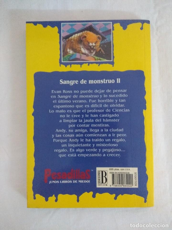 Libros de segunda mano: LIBRO PESADILLAS Nº16/SANGRE DE MONSTRUO II/R.L.STINE-EDICIONES B. - Foto 2 - 182669786