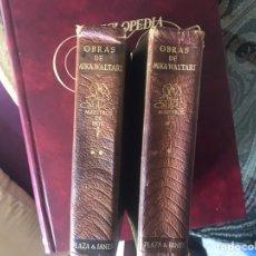 Libros de segunda mano: MIKA WALTARI. OBRAS. PLAZA JANÉS. TOMOS I Y II.. Lote 183046105