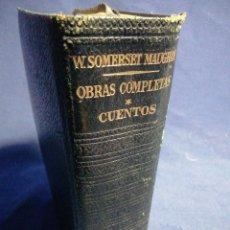 Libros de segunda mano: OBRAS COMPLETAS. W. SOMERSET MAUGHAM. CUENTOS I. PIEL Y PAPEL DE BIBLIA. Lote 183525528