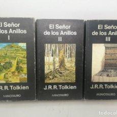 Libros de segunda mano: EL SEÑOR DE LOS ANILLOS. TRILOGÍA. TOLKIEN. MINOTAURO SEGUNDA Y CUARTA EDICIÓN. 1979. Lote 183558612