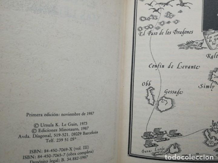 Libros de segunda mano: Los libros de Terramar III, La costa mas lejana, Ursula K. Le Guin, Minotauro primera edición 1987 - Foto 3 - 183578097
