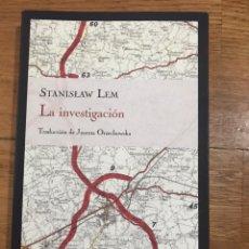 Libros de segunda mano: STANISLAW LEM LA INVESTIGACIÓN. Lote 183913806