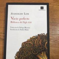 Libros de segunda mano: STANISLAW LEM VACÍO PERFECTO. Lote 183913832