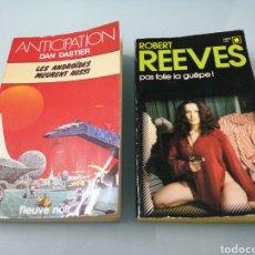 Libros de segunda mano: LES ANDROIDES MEURENT AUSSI. DAN DASTIER. PAS FOLLE LA GUEPE. ROBERT REEVES. GALLIMARD, 1951.. Lote 184523436
