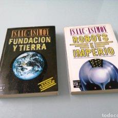 Libros de segunda mano: FUNDACION E IMPERIO, 1A EDIC. ROBOTS E IMPERIO. 2A EDIC. ASIMOV. PLAZA Y JANÉS.. Lote 184525782