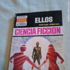 Libros de segunda mano: NOVELA DE BOLSILLO,CIENCIA FICCIÓN, ELLOS,AÑO1974,POR MARCUS SIDEREO. Lote 184851337