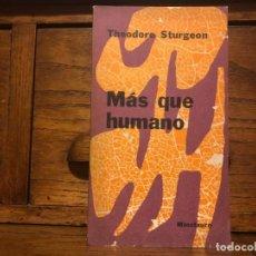 Libros de segunda mano: MÁS QUE HUMANO. THEODORE STURGEON. EDITORIAL MINOTAURO,. Lote 190034091