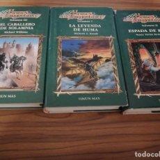 Libros de segunda mano: HEROES DE LA DRAGONLANCE. TRES TOMOS. SERIE I. TAPA DURA. BUEN ESTADO. . Lote 190295603