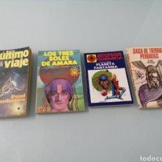 Libros de segunda mano: CIENCIA FICCIÓN. 4 VOL.EL ULTIMO VIAJE.TRES SOLES DE AMARA.PLANETA FANTASMA.SAGA DE TIERRAS PERDIDAS. Lote 193223041