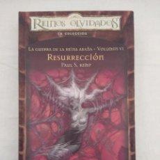 Livres d'occasion: REINOS OLVIDADOS/LA GUERRA DE LA REINA ARAÑA VOL VI/RESURRECCION/ALTAYA.. Lote 193617232