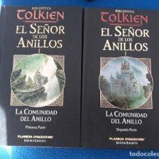 Libros de segunda mano: EL SEÑOR DE LOS ANILLOS I. LA COMUNIDAD DEL ANILLO (OBRA COMPLETA EN DOS TOMOS) - J.R.R. TOLKIEN. Lote 194219601