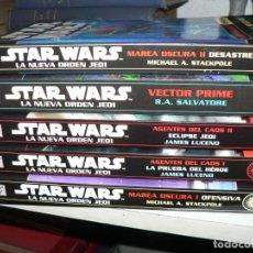 Libros de segunda mano: STAR WARS COLECCION DE 5 EJEMPLARES DE LA NUEVA ORDEN JEDI DE ALBERTO SANTOS. Lote 194386065