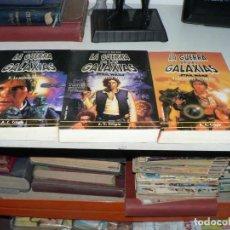 Libros de segunda mano: STAR WARS: TRILOGIA HAN SOLO (LA TRAMPA DEL PARAISO, MANIOBRA HUTT. Lote 194386725