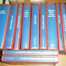 Libros de segunda mano: COLECCION JULIO VERNE, 12 TOMOS CIRCULO DE LECTORES, GRABADOS AZULES TAPA DURA. Lote 194541521