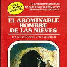 Libros de segunda mano: ELIGE TU PROPIA AVENTURA, Nº 4: EL ABOMINABLE HOMBRE DE LAS NIEVES - TIMUN MAS. Lote 194690775