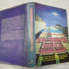 Libros de segunda mano: OVNIS DOCUMENTOS OFICIALES DEL GOBIERNO ESPAÑOL - J. J. BENITEZ - PLAZA Y JANES 1ª 1978 + INFO. Lote 194737152