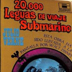 Libros de segunda mano: 20,000 LEGUAS DE VIAJES SUBMARINO - JULIO VERNE - EDISVENSA -. Lote 194858250