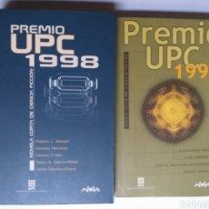 Libros de segunda mano: PREMIO UPC 1998 Y 1999 . NOVELA CORTA DE CIENCIA FICCIÓN. Lote 194876968