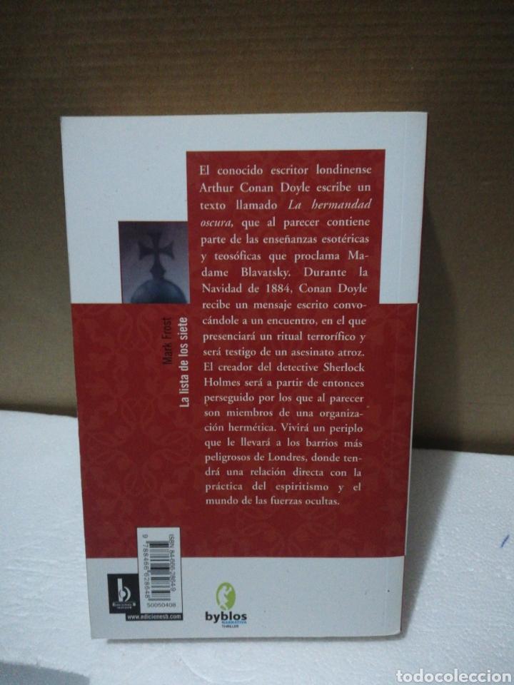 Libros de segunda mano: La lista de los siete .Mark Frost - Foto 2 - 194889225
