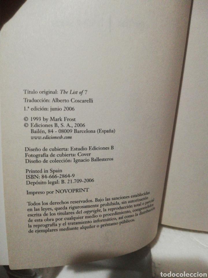 Libros de segunda mano: La lista de los siete .Mark Frost - Foto 4 - 194889225