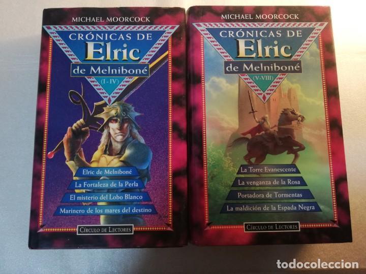 CRONICAS DE ELRIC MELNIBONE COMPLETA 8 TITULOS MICHAEL MOORCOCK (Libros de Segunda Mano (posteriores a 1936) - Literatura - Narrativa - Ciencia Ficción y Fantasía)