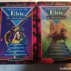 Libros de segunda mano: CRONICAS DE ELRIC MELNIBONE COMPLETA 8 TITULOS MICHAEL MOORCOCK. Lote 194900133