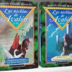 Libros de segunda mano: LAS NIEBLAS DE AVALÓN (OBRA COMPLETA) - MARION ZIMMER BRADLEY (I-II-III-IV). Lote 194901316