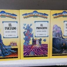 Libros de segunda mano: TRILOGIA EL SEÑOR DEL TIEMPO - ( EL INICIADO - EL PROSCRITO - EL ORDEN Y EL CAOS ) - TIMUN MAS. Lote 194908266