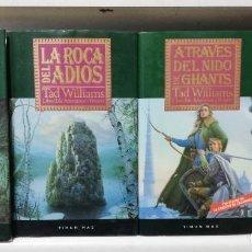 Libros de segunda mano: AÑORANZAS Y PESARES. TAD WILLIAMS. TIMUN MAS. CUATRO TOMOS, OBRA COMPLETA. Lote 194908422