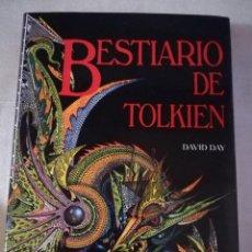 Libros de segunda mano: BESTIARIO DE TOLKIEN - DAVID DAY – ED. TIMUN MAS, TAPAS DURAS SOBRECUBIERTA. Lote 194908565