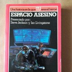 Libros de segunda mano: LIBRO JUEGO ESPACIO ASESINO COLECCIÓN LUCHA FICCIÓN Nº 12 ALTEA JUNIOR. Lote 194947312