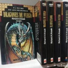 Libros de segunda mano: EL REINO DE LOS DRAGONES COMPLETA 5 VOLS, RICHARD A. KNAAK. TIMUN MAS. Lote 195014283