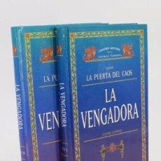Libros de segunda mano: GRANDES AUTORES DE LITERATURA FANTÁSTICA. SERIE LAS PUERTAS DEL CAOS. LA VENGADORA I Y II (LOUISE CO. Lote 195353013